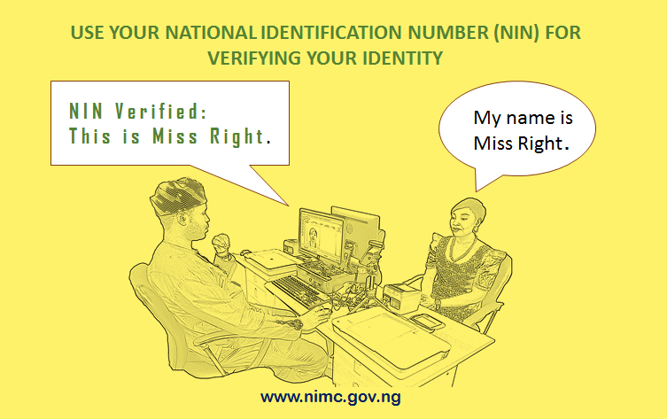 Use your National Identification Number for verifying your identity.