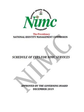NIMC Fees document