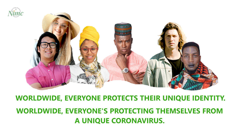 Worldwide, everyone protects their unique identity. Worldwide, everyone's protecting themselves from a unique coronavirus