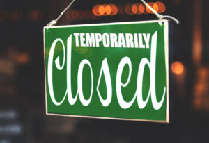 Temporarily closed enrolment centres