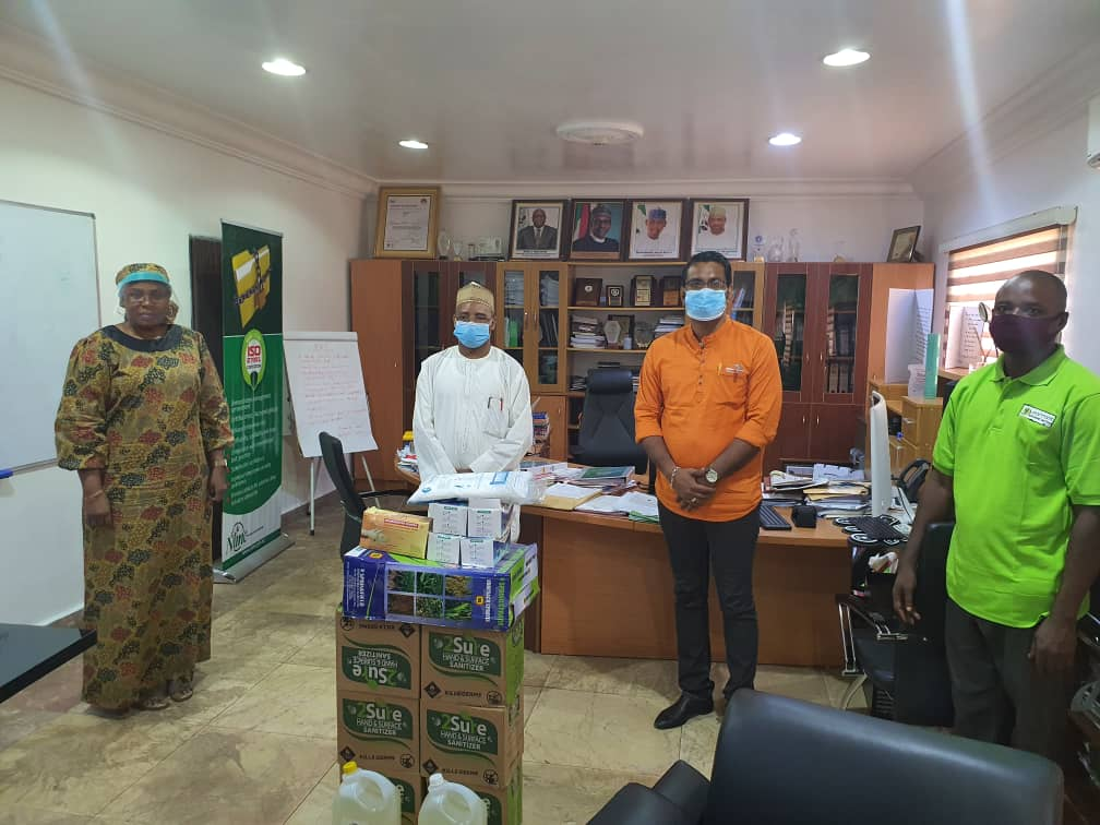 Dantata Universal Services provides PPE for NIMC staff COVID-19 proetection