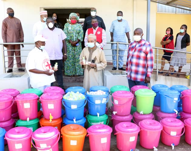 Nigerian Red Cross PPE donation to NIMC 1